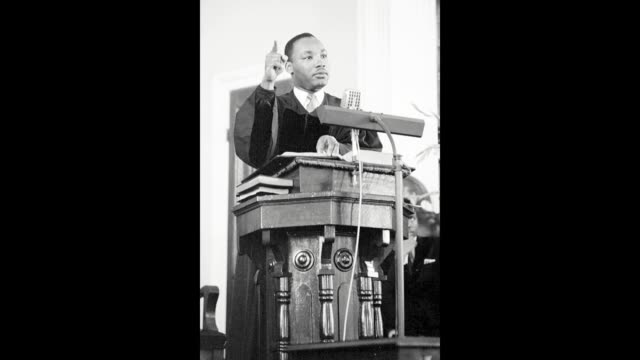 GIF Civil rights leader Reverend Martin Luther King Jr delivers a sermon on May 13 1956 in Montgomery Alabama