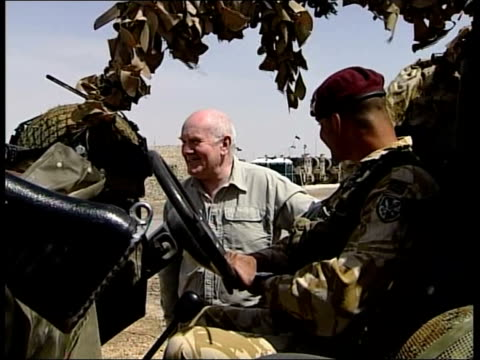 Civil war claims by former Iraqi Prime Minister Iyad Allawi John Reid comments AlMuthanna Province DAY Side view of Defence Secretary Dr John Reid MP...