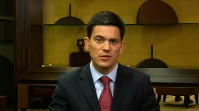 civil war david miliband attempts to broker ceasefire between government and tamil tigers england london gir int david miliband mp live 2way... - ceasefire stock videos and b-roll footage