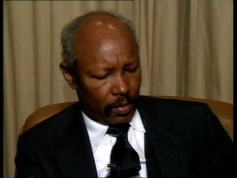 London ITN CMS Osman Ali intvw SOF Somalia does not have a government the present regime has no respect for law or for human rights
