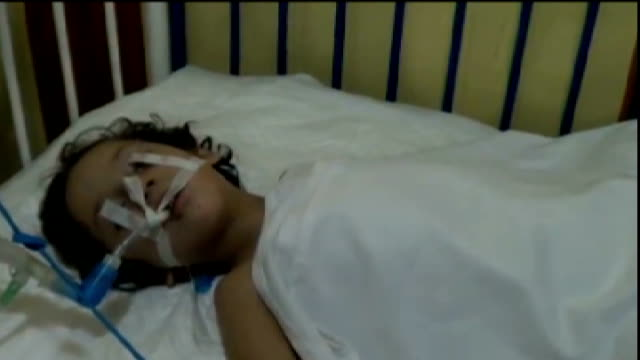 Syrian government criticised for delaying UN chemical weapons inspection SYRIA Duma INT 5yearold chemical attack victim Mariam in hospital bed