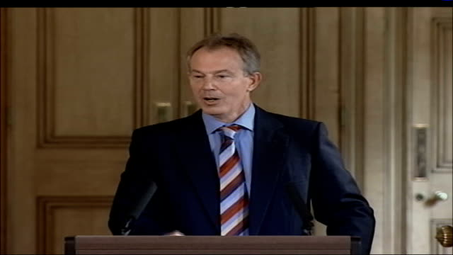 warnings from us general and british ambassador tony blair mp press conference sot what should our response be however difficult it is stay the... - will.i.am stock videos & royalty-free footage