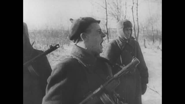civilian digging trenches/ soviet army in action/ aerial view of bombardment - civilian stock videos & royalty-free footage