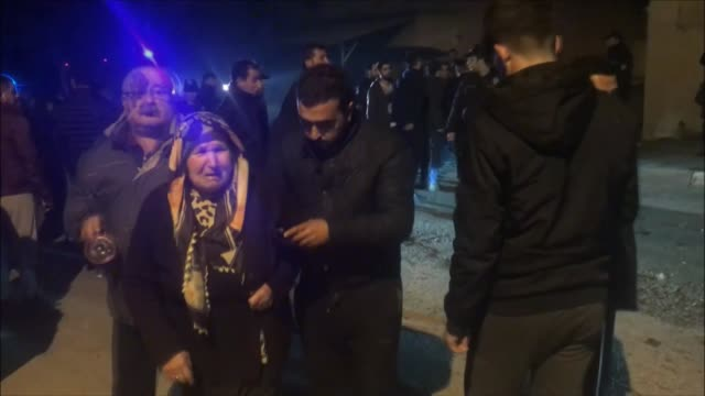 vídeos de stock, filmes e b-roll de a civilian living in a district near turkey's border with syria was injured late wednesday by rocket fire from syrianbased pyd/pkk terrorists three... - snuff