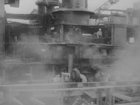 civilian technicians working on renovation of warships/ vintage scuba divers/ panorama of recovery works - aqualung diving equipment stock videos & royalty-free footage