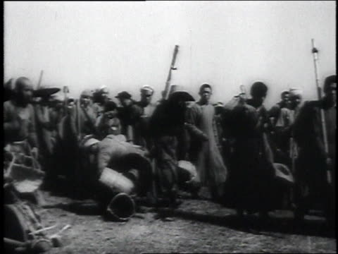 montage civilians using hand tools and their feet to create runway from rice paddies / china - 1946 stock videos and b-roll footage