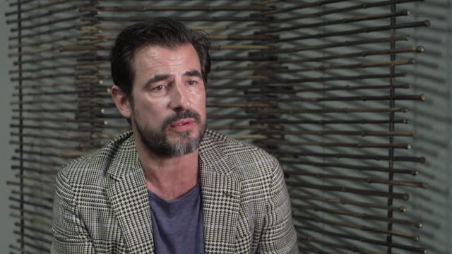 interview claes bang actor on being ambitious to succeed as an actor at 'the burnt orange heresy' interviews 76th venice film festival on september... - 76th venice film festival 2019点の映像素材/bロール