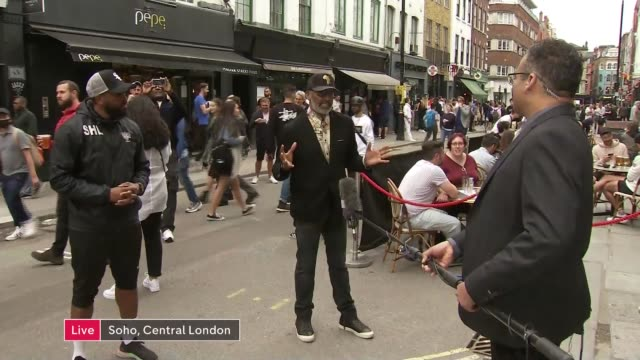 claims that police have targeted some communities more than others in lockdown england london soho ext sayce holmeslewis and leroy logan live... - politics stock-videos und b-roll-filmmaterial