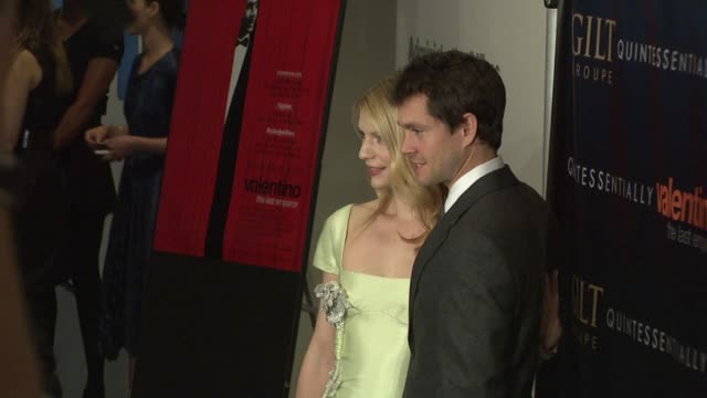 Claire Danes and Hugh Dancy at the Valentino The Last Emperor Premiere at New York NY