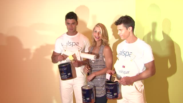 claire danes and models at the claire danes launches valspar's new hidef paint and exhibition at new york ny - claire danes stock videos and b-roll footage