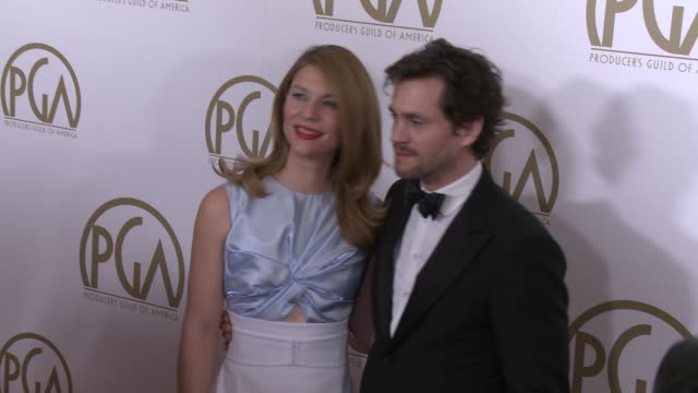 claire danes at 25th annual producers guild awards at the beverly hilton hotel on in beverly hills, california. - the beverly hilton hotel stock videos & royalty-free footage