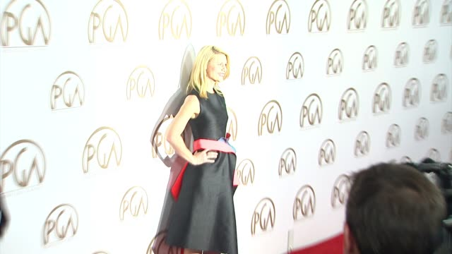 claire danes at 26th annual producers guild awards in los angeles ca - claire danes stock videos and b-roll footage
