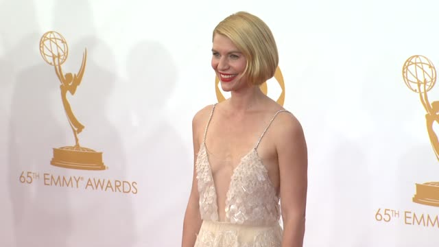 claire danes at 65th annual primetime emmy awards arrivals claire danes at 65th annual primetime emmy awards at nokia theatre la live on september 22... - emmy awards stock videos & royalty-free footage