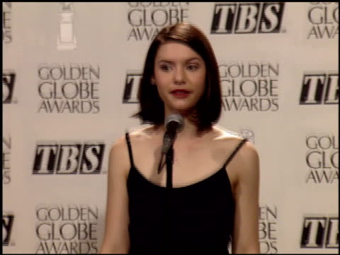 claire danes at the 1995 golden globe awards at the beverly hilton in beverly hills california on january 21 1995 - claire danes stock videos and b-roll footage