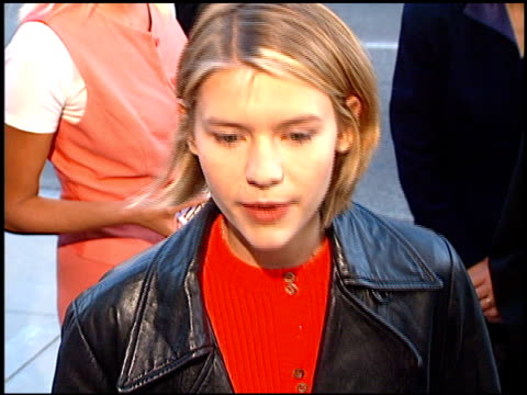 claire danes at the 'courage under fire' premiere at academy theater in beverly hills california on july 8 1996 - claire danes stock videos and b-roll footage
