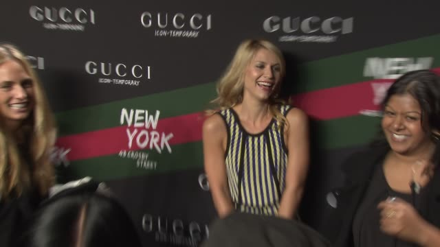 claire danes at the gucci icontemporary flash sneaker store launch at new york ny - claire danes stock videos and b-roll footage