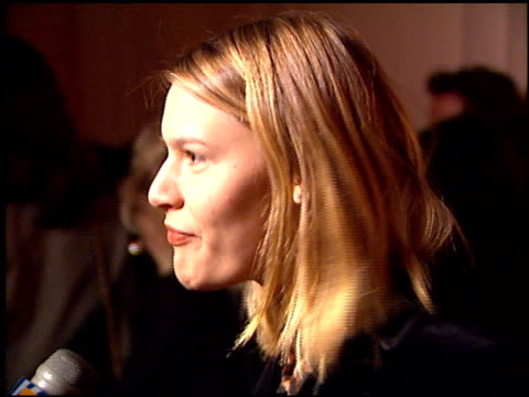 claire danes at the polygram grammy awards party at chasen's in beverly hills california on february 28 1996 - claire danes stock videos and b-roll footage