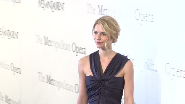 claire danes at the the metropolitan opera's 125th anniversary gala at new york ny - claire danes stock videos and b-roll footage