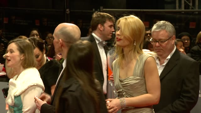 claire danes at the the orange british academy film awards at london england. - straight hair stock videos & royalty-free footage