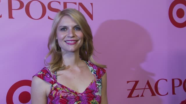 claire danes at the zac posen celebrates launch of the zac posen for target collection at new york ny - claire danes stock videos and b-roll footage