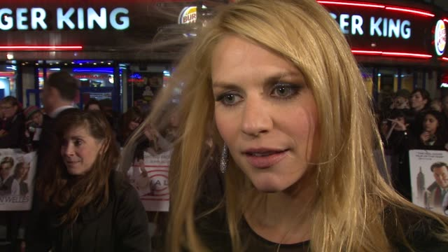 claire danes on the reception at the premiere on zac efron at the me orson welles uk premiere at london england - claire danes stock videos and b-roll footage