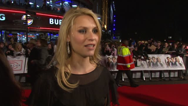 claire danes on the reception at the premiere on zac efron her character in the film on hanging out with zac efron at the me orson welles uk premiere... - claire danes stock videos and b-roll footage