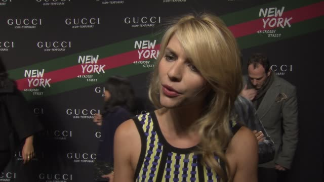 claire danes on why she's excited to see the new collection on why she loves the gucci brand and what it means to her she talks about knowing frida... - claire danes stock videos and b-roll footage