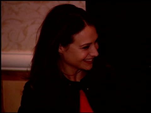 claire forlani at the women in hollywood luncheon at the four seasons hotel in beverly hills, california on october 11, 2000. - four seasons hotel stock videos & royalty-free footage