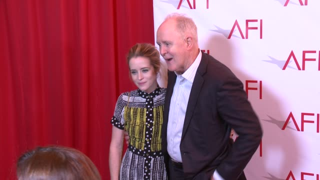 claire foy and john lithgow at four seasons hotel los angeles at beverly hills on january 06, 2017 in los angeles, california. - four seasons hotel stock videos & royalty-free footage