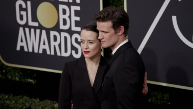 Claire Foy and Matt Smith at the 75th Annual Golden Globe Awards at The Beverly Hilton Hotel on January 07 2018 in Beverly Hills California
