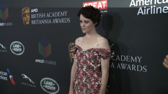 Claire Foy at 2017 AMD British Academy Britannia Awards Presented By American Airlines and Jaguar Land Rover in Los Angeles CA