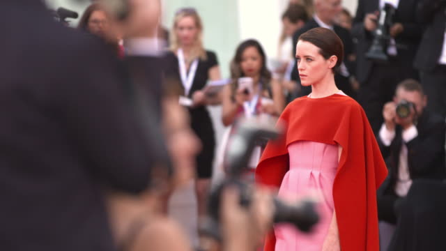 Claire Foy at First Man Red Carpet Arrivals Opening Ceremony And Lifetime Achievement Award To Vanessa Redgrave 75th Venice Film Festival on August...
