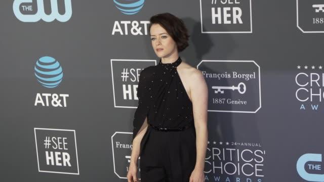 Claire Foy at the 24th Annual Critics' Choice Awards at Barker Hangar on January 13 2019 in Santa Monica California