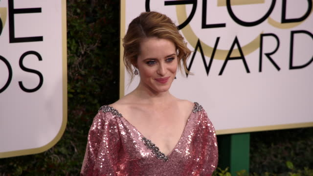 Claire Foy at the 74th Annual Golden Globe Awards Arrivals at The Beverly Hilton Hotel on January 08 2017 in Beverly Hills California 4K