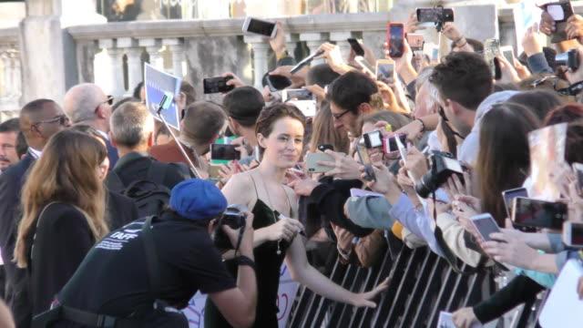 Claire Foy attends 'First Man' premiere during 66th San Sebastian Film Festival on September 24 2018 in San Sebastian Spain