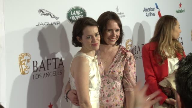 Claire Foy Gemma Foy at BAFTA Tea Party in Los Angeles CA
