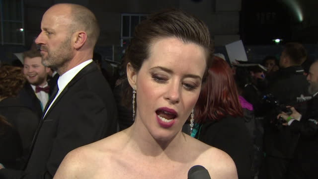 Claire Foy interview on BAFTA red carpet about the film First Man
