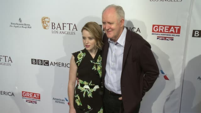 Claire Foy John Lithgow at 2017 BAFTA Los Angeles Awards Season Tea Party The Four Seasons Los Angeles at Beverly Hills in Los Angeles CA