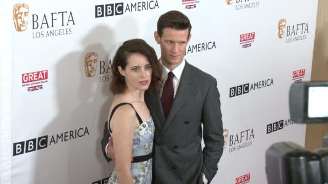 Claire Foy Matt Smith at BAFTA LOS ANGELES BBC AMERICA TV TEA PARTY 2017 in Los Angeles CA
