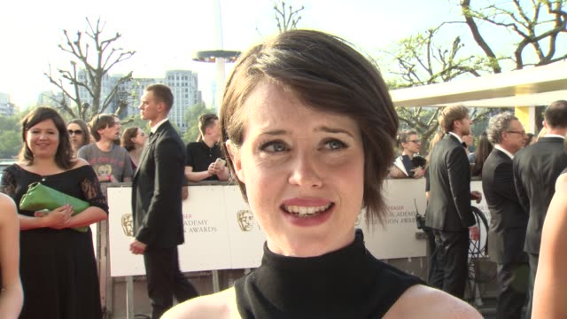 interview claire foy on being nominated and the success of wolf hall at the house of fraser british academy television awards on may 08 2016 in... - british academy television awards stock videos & royalty-free footage