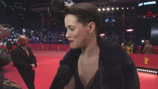 INTERVIEW Claire Foy on shooting a film in Berlin working with Steven Soderbergh having a bit of foul mouth at 68th Berlin Film Festival Unsane Red...