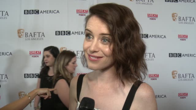 INTERVIEW Claire Foy on the BAFTA Tea Party the influence BAFTA has had on her and on entertainment the Emmys her show at BAFTA LOS ANGELES BBC...