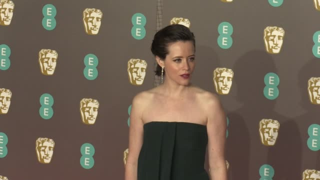 Claire Foy on the red carpet of the 2019 EE British Academy Film Awards in London London UK February 10th 2019