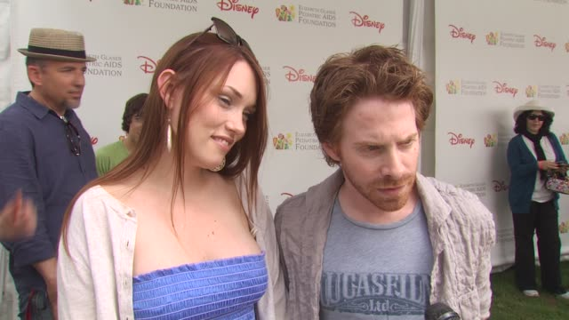 claire grant seth green on being here on his favorite part of the day at the 21st annual 'a time for heroes' celebrity picnic benefit at los angeles... - a time for heroes stock videos & royalty-free footage
