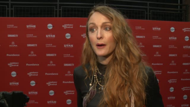 INTERVIEW Claire McCarthy on the film being timely with the #METOO movement at the 'Ophelia' Premiere 2018 Sundance Film Festival at Eccles Center...