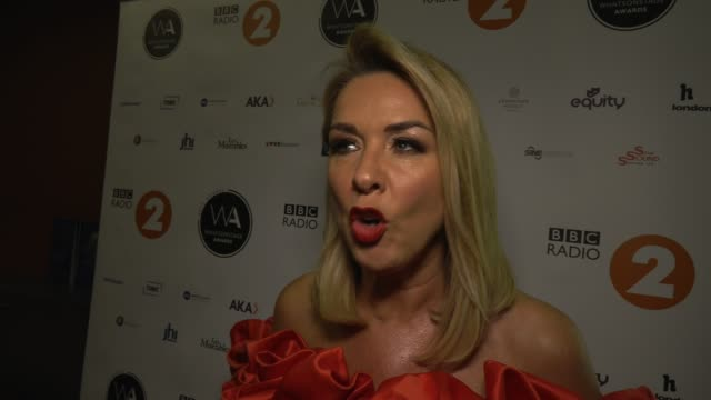 claire sweeney on how the me too movement changed roles for women on stage at whatsonstage awards on march 01 2020 in london england - presentation stock videos & royalty-free footage