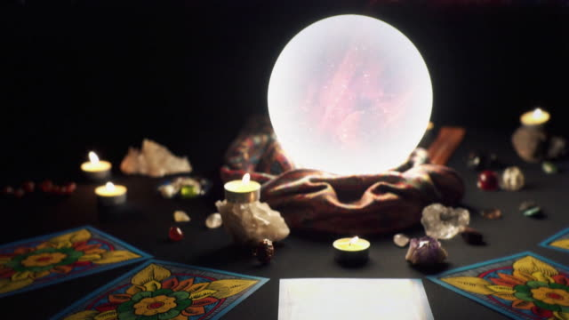 clairvoyance - crystal ball - fortune telling stock videos & royalty-free footage