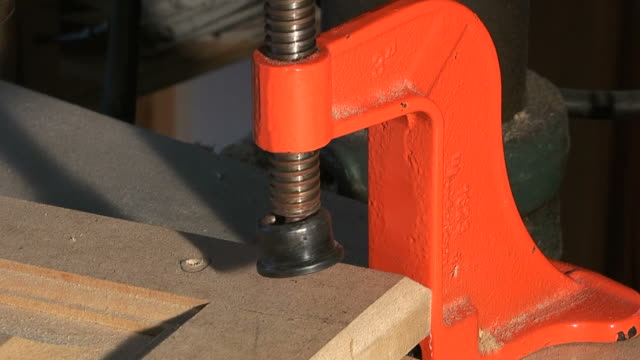 clamping wood - clamp stock videos & royalty-free footage