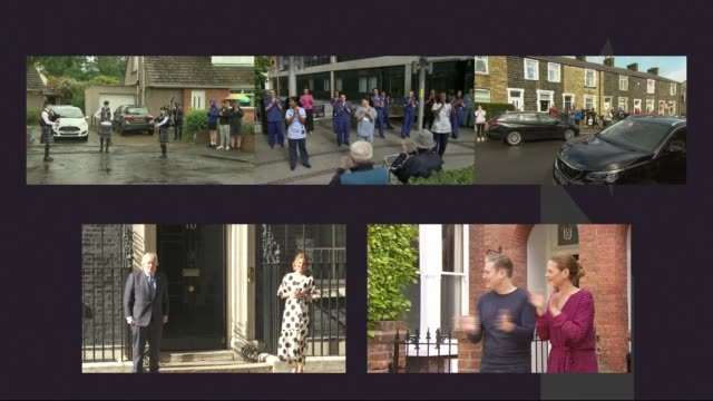 'clap for carers' marks 72nd anniversary of the nhs united people taking part in nationwide 'clap for the nhs' to mark the 72nd anniversary of the... - politics stock-videos und b-roll-filmmaterial