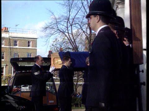 Clapham ITN LIB SEQ PC Patrick Dunne funeral TX